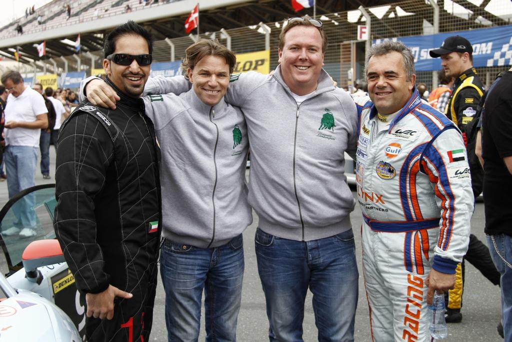 (L to R) Khaled Al Mudhaf, Stefan Johansson, Frederic Fatien and Fabien Giroix