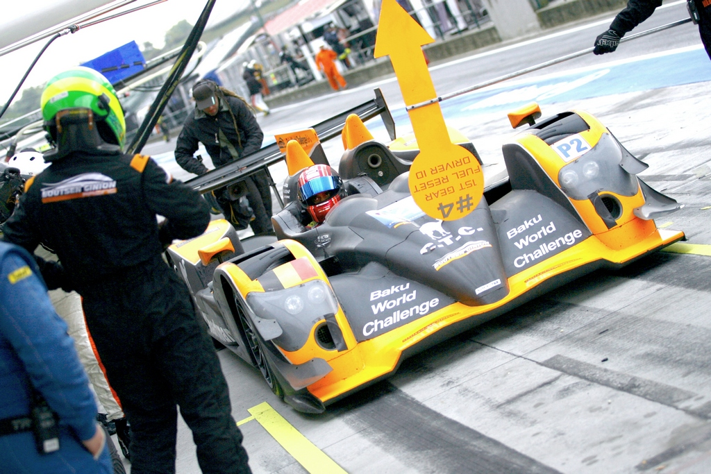 Khaled brings the car to pits after practice