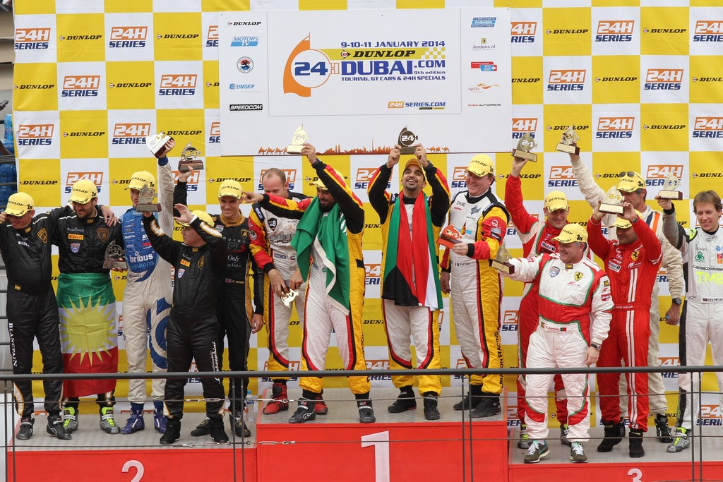 Kuwaiti ace Khaled Al Mudhaf wins Dubai 24hr Pro-Am with Dragon Racing Ferrari 458 GT3