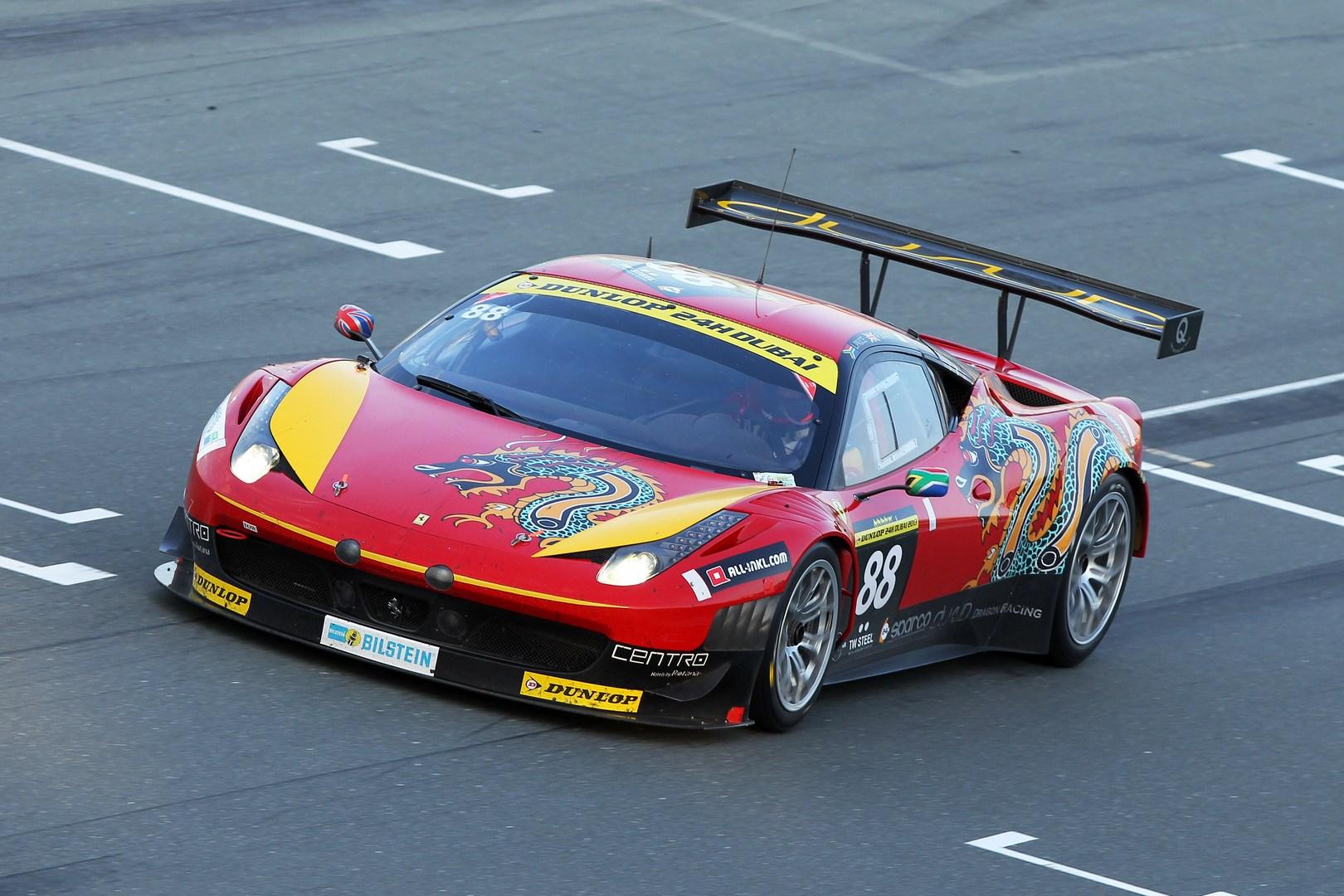 Khaled Confirms Dubai 24hr Entry With Dragon Racing Ferrari 458 Gt3 Khaled Al Mudhaf Gforce Racing