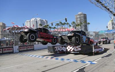 Fearless race ace Khaled debuts in Stadium Super Trucks at Long Beach
