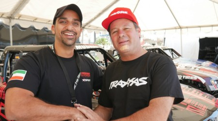 Khaled with series owner Robbie Gordon