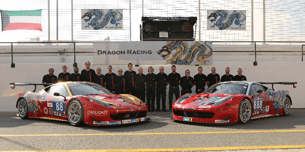 Dubai 24H 2016 Dragon Racing Ferrari458 GT3 75
