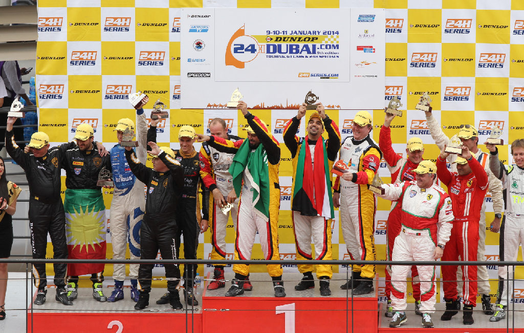 Dubai 24H GT3AM Class Winners 2014 -3
