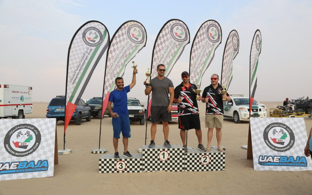 UAE Baja: Second place podium in UTV class for Khaled in Dubai Desert Rally